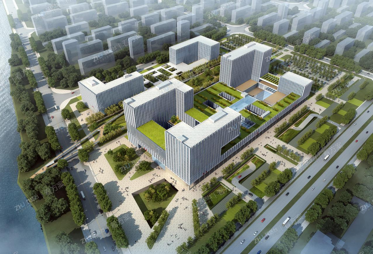 青岛市平度中心医院 | 一廊串两区,绿轴连东西