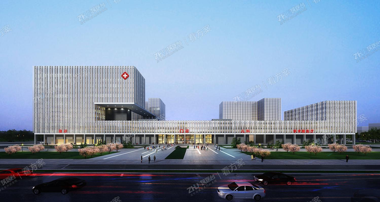 青岛市平度中心医院   一廊串两区,绿轴连东西