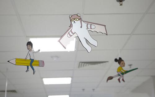 伦敦皇家儿童医院墙面装饰