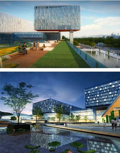 中南大学湘雅五医院 生态花园医学界新地标建筑