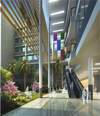 综合医疗大楼内部装饰图